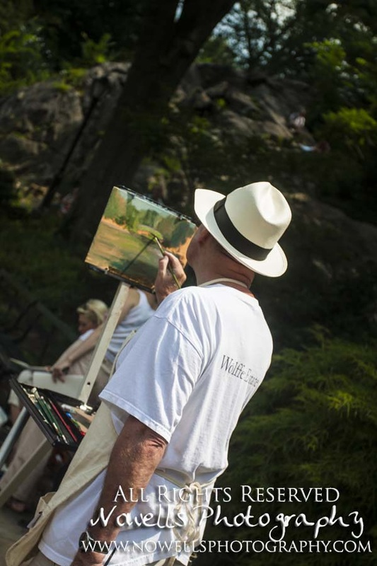 Central Park Painter New York, Manhattan, Real New York Tour, Photography by Noelle Wells, Nowells Photography, All Rights Reserved