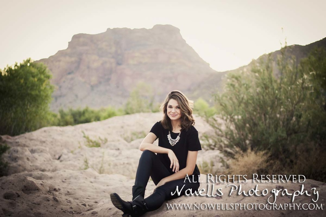 Chic Lower Salt River, Glamour Senior Photography by Nowells Photography in Southwest Phoenix, Arizona