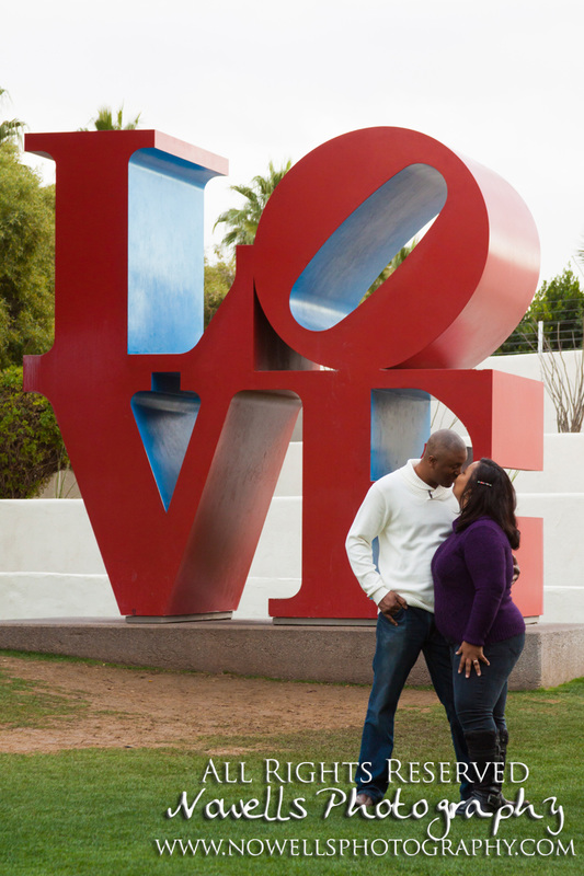 Couples Anniversary Photography Session at Scottsdale Civic Center, Arizona by Nowells Photography - www.nowellsphotography.com