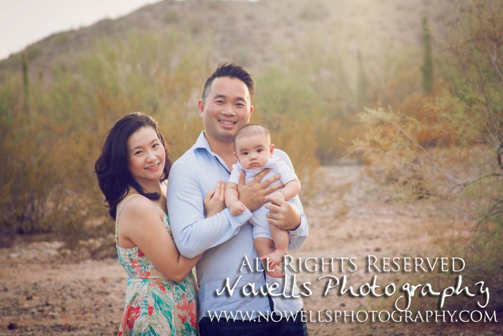 Goodyear, Arizona Family Photography. Desert Sunset Mountains. Phoenix Photographer by Nowells Photography. www.nowellsphotography.com